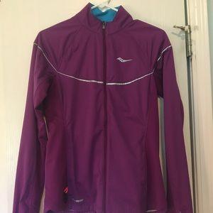 Saucony purple running jacket